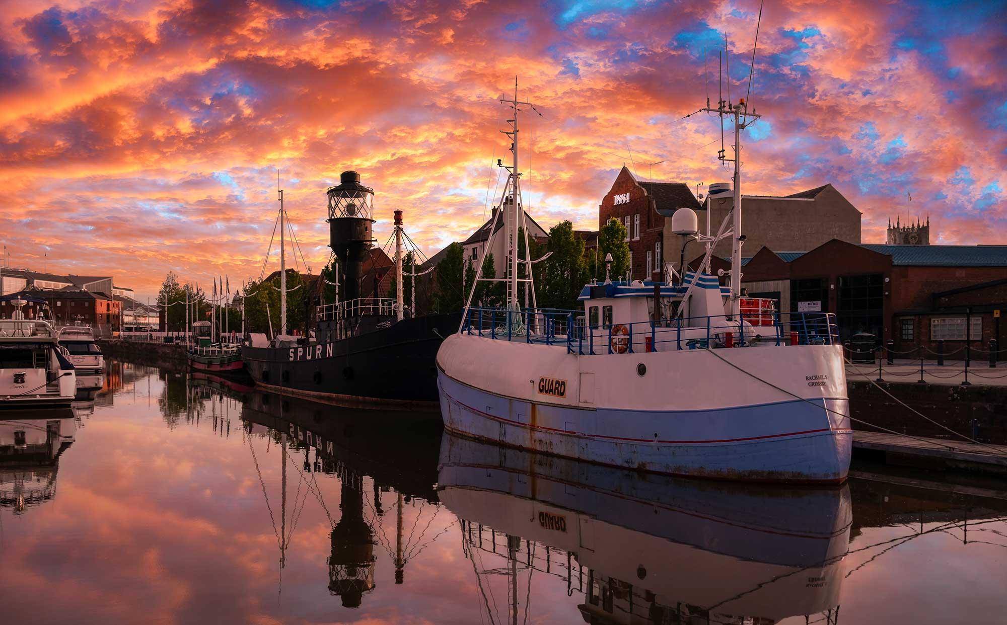 Hull Marina Sunset