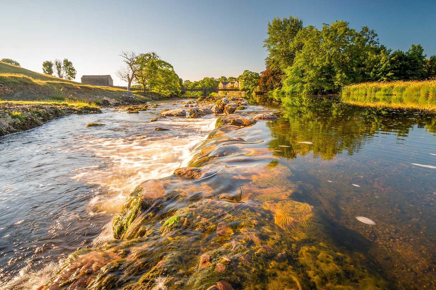 Linton Falls River Wharfe Yorkshire Dales